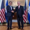 US Secretary of State Tillerson Meets with Juan Orlando Hernandez President of Honduras