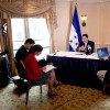 Honduran President Meets with Biden