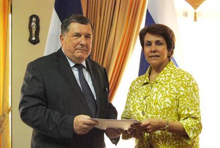 President Lobo Receives Ambassador Credentials