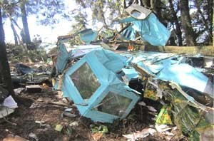 wreckage from Toncontin in Honduras plane crash
