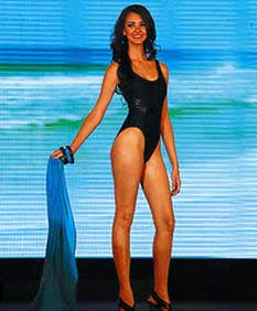 Miss Copan in the Swimsuit Competition