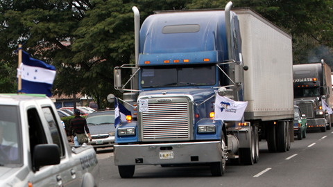 truck delivering election material