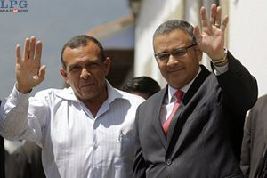 Presidents of Honduras and El Salvador