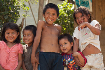 Mayan Youngsters on Children's Day in Honduras