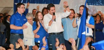 Juan Orlando Hernandez, Leading Candidate in the Honduras General Elections 2013
