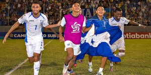 Honduras players (pictured) celebrate after advancing to the CONCACAF Under-17 Championship final and qualifying for the 2015 FIFA U-17 World Cup with a win over Guatemala on March 11, 2015, in San Pedro Sula, Honduras. (Photo: Mexsport)
