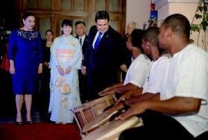 Japan's Princess Mako visits the Honduras Presidential Palace in the Capital city of Tegucigalpa on December 8, 2015. Photo Courtesy: Honduras Presidential Palace