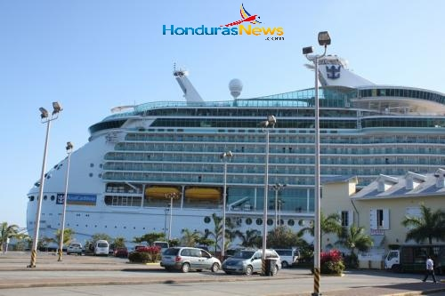 Navigator of the Seas Royal Caribbean in Roatan Bay Islands Honduras