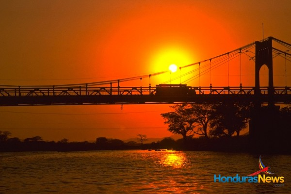 Sunset Over Bridge - Rio Choluteca Honduras