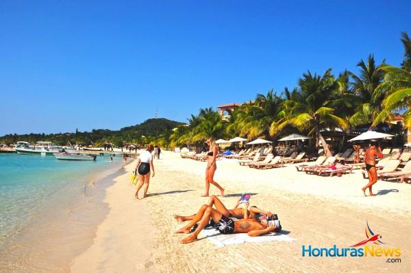 West Bay Roatan Honduras Tourist at Beach