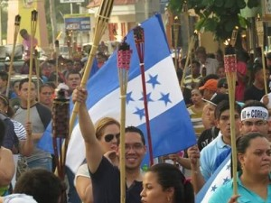 The leader of Honduras' indignant movement, Ariel Varela