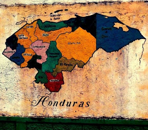 Honduras Tourism Map