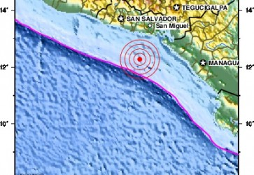 Honduras Pacific Coast shaken by 7.3 Earthquake