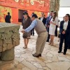 Japan's Princess Mako visits the Ancient Mayan Ruins in Copan Ruinas, Honduras