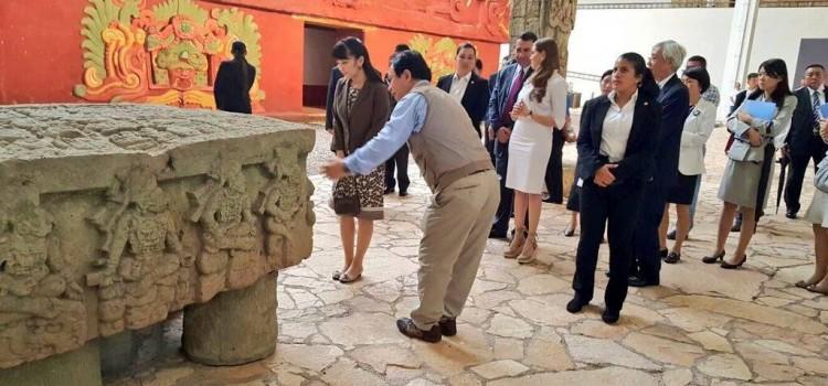 Japan's Princess Mako visits the Ancient Mayan Ruins in Copan Ruinas, Honduras