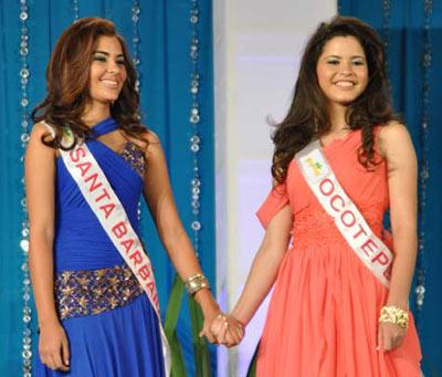 Miss Santa Barbara and Miss Ocotepeque