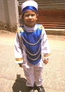 Honduran boy dressed for Honduras National Holiday Celebration