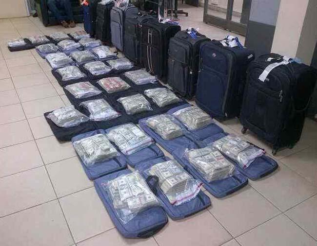 Cash Found in Hondurans Suitcases