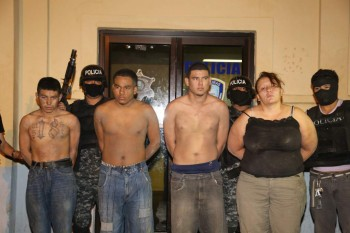 Members of the MARA Salvatrucha Gang in Honduras apprehended and accused of the murder of two Attorneys assigned to the District Attorney Office