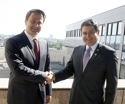 Honduras President Meets Prime Minister of Luxembourg