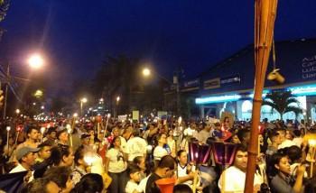 Protestors in La Ceiba, Honduras
