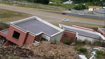 Houses in Landslide