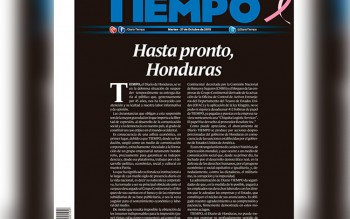 Image from Tiempo, of one of their last articles.