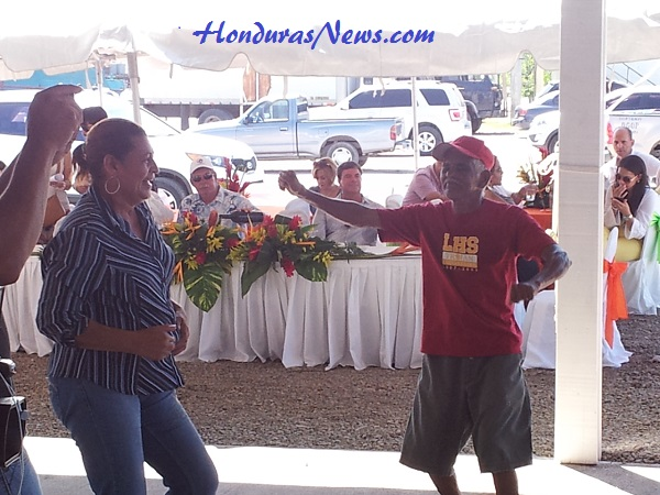 Utila Dream Ferry Inaugural Celebration in La Ceiba Honduras Audience Dancing