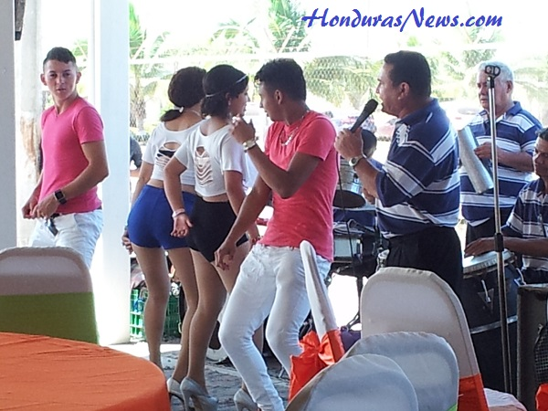 Utila Dream Ferry Inaugural Celebration in La Ceiba Honduras Singer, Band and Dancers Entertain the Crowd