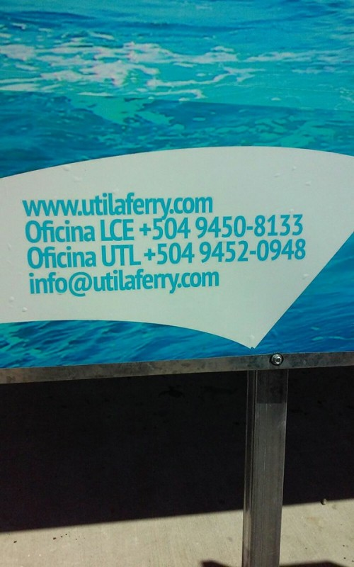 Utila Dream Ferry Telephone Number