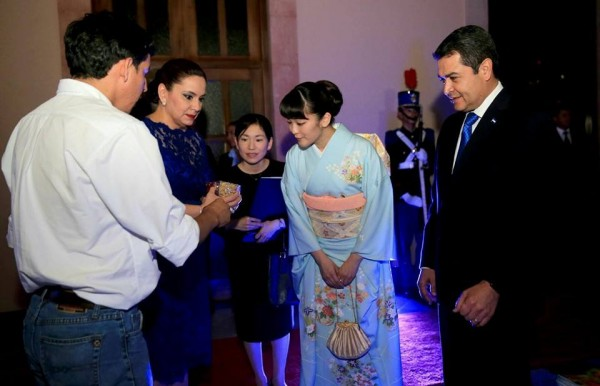 Japan's Princess Mako visits the Honduras Presidential Palace in the Capital city of Tegucigalpa on December 8, 2015. Photo Courtesy: Honduras Presidential Palace