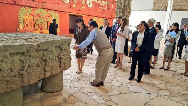 Japan's Princess Mako visits the Ancient Mayan Ruins in Copan Ruinas Honduras