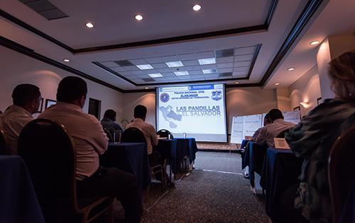 CALEE participants attend a lecture in El Salvador.