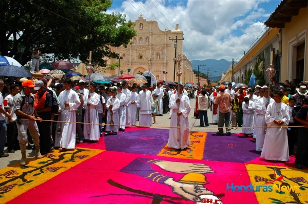 Traditional Rugs during Easter - Comayagua Honduras
