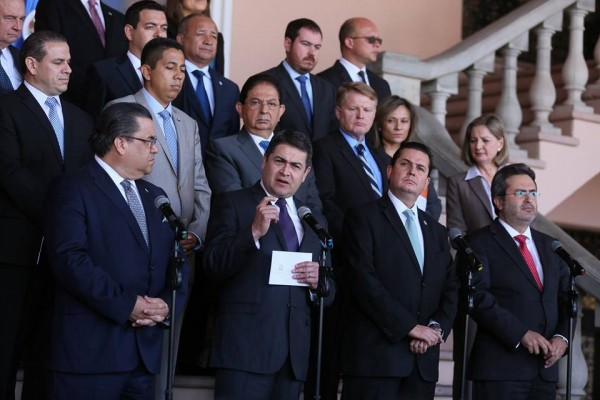 Honduras President Juan Orlando Hernandez Offically Welcomes the MACCIH Delegation to Honduras