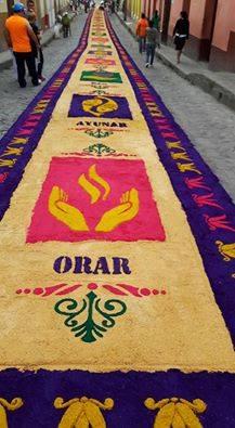 Easter-in-Honduras-Semana-Sanat-en-Honduras-Santa-Rosa-de-Copan Saw-Dust-Carpets